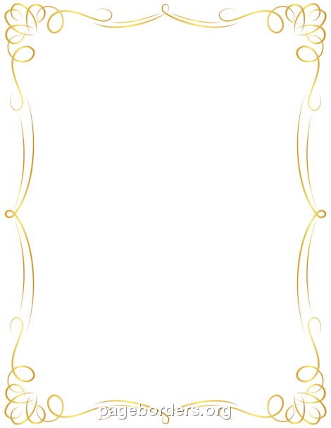 Fancy Gold Border Clipart Png.