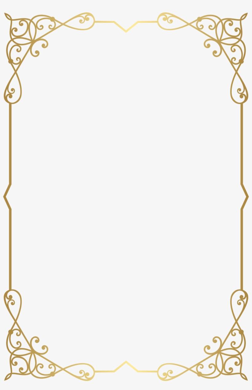 Decorative Frame Border Png Clip Art Image Gallery.