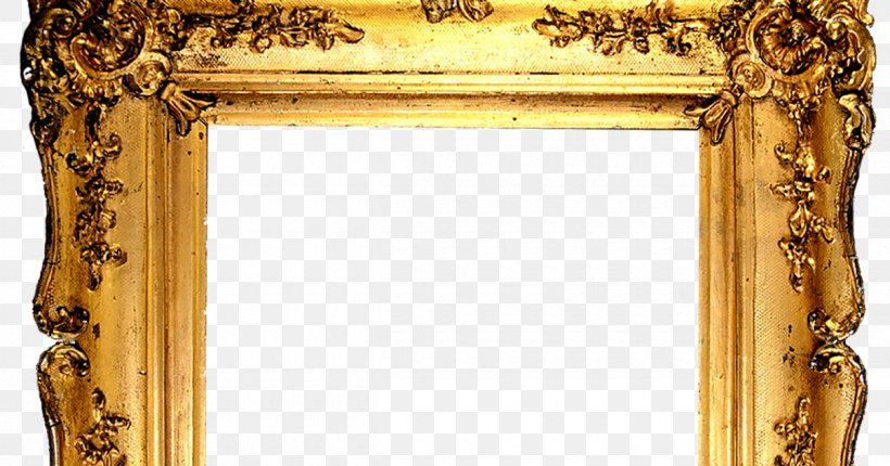 Picture Frames Gold Decorative Arts Clip Art, PNG.