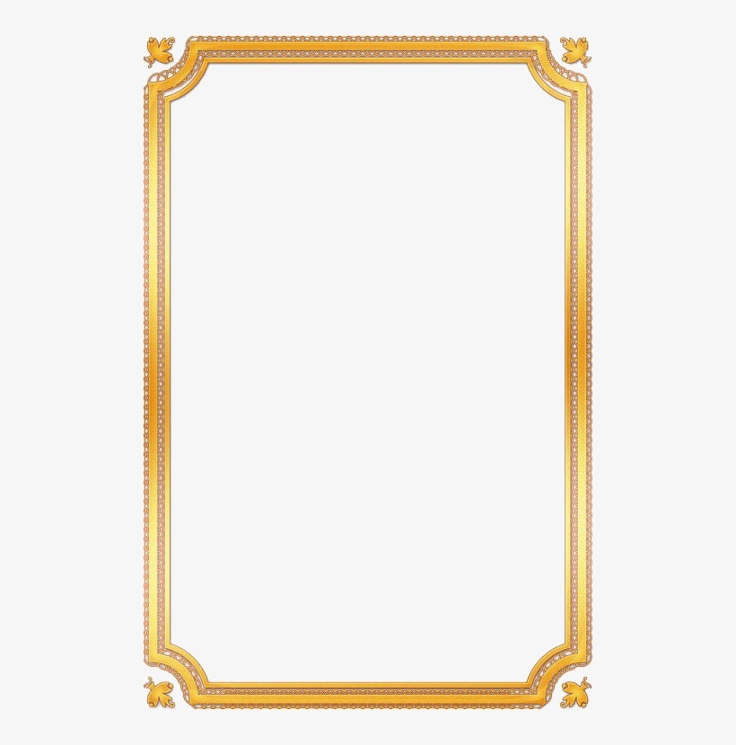 Download Free png Gold frame border png Clip Art Gold Frame.