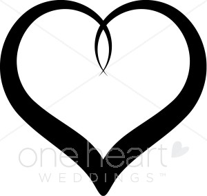 Fancy Black Heart Clipart.
