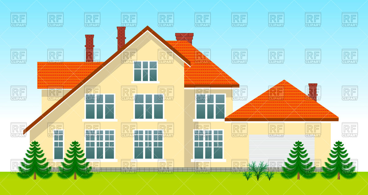 New family house Stock Vector Image.