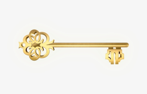 Free Fancy Skeleton Key Clip Art with No Background.