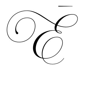 Fancy letter a with crown clipart black and white.