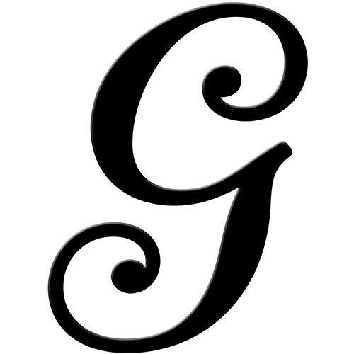 letter g black.