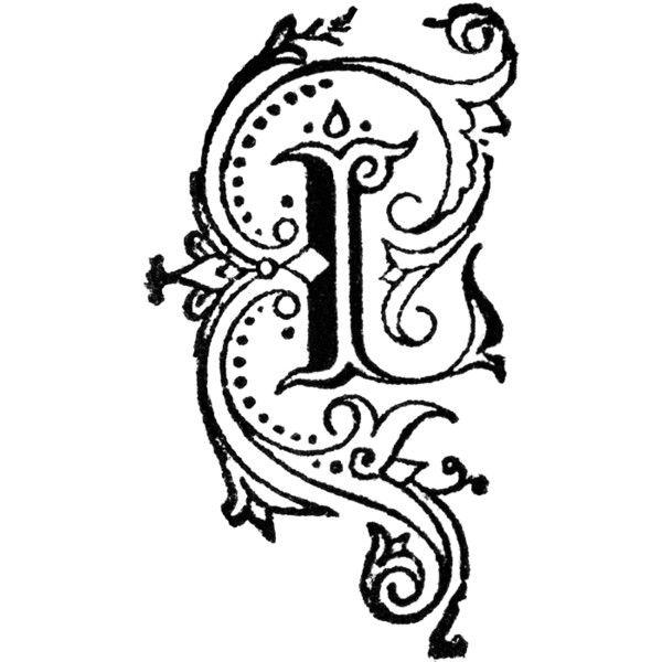 Decorative Letter L Clipart found on Polyvore.