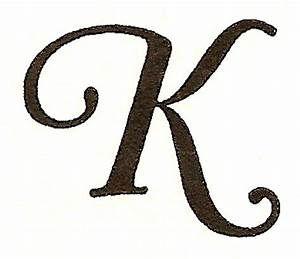 Clip Art Letter K.