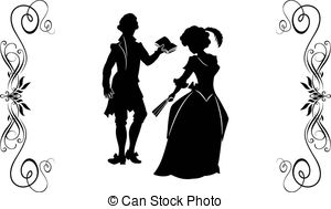 Stock Illustration of fancy man and woman 19 century. part 2.