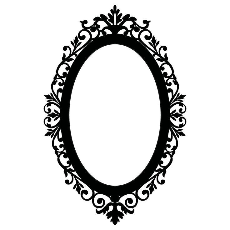 Mirrors Astounding Oval Black Framed Mirror Small Ornate.