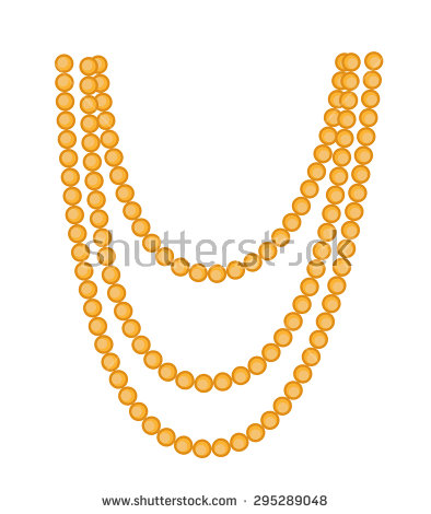 Bead Necklace Stock Images, Royalty.