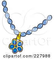 Blue Pendant On A Necklace Posters, Art Prints by Lal Perera.
