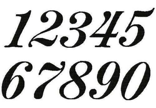 45 Fancy Numbers Clipart.