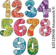 Fancy numbers clipart 5 » Clipart Portal.