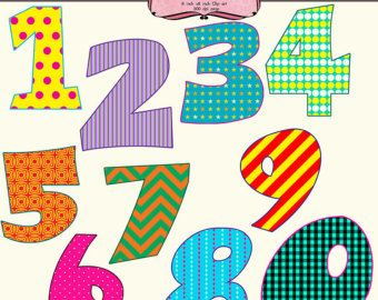 Fancy Numbers 1 20 Clipart #1.