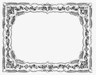 Free Fancy Frame Clip Art with No Background.