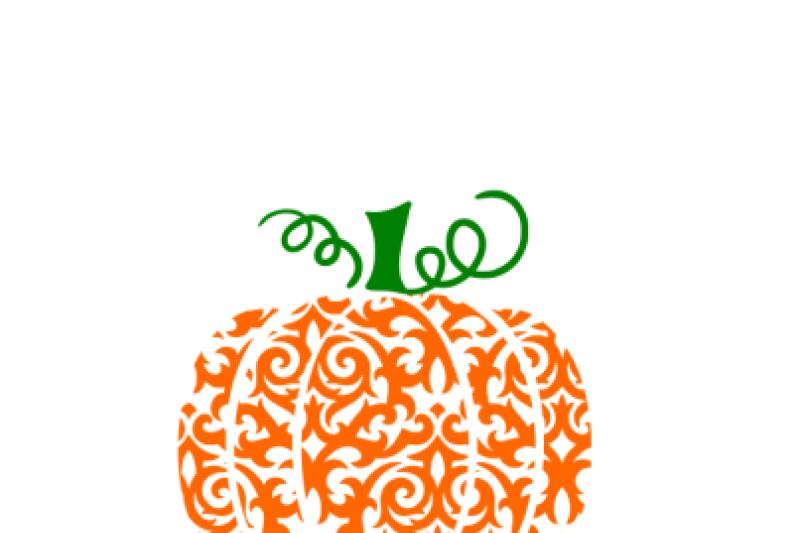 Free Swirly Pumpkin SVG.