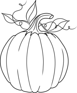 Pumpkin clipart black and white fancy.