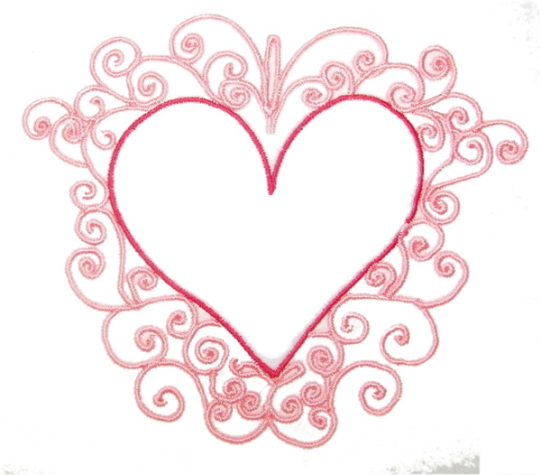Fancy Red Heart Clipart.