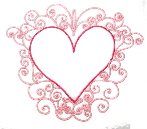 Fancy Red Heart Clipart.