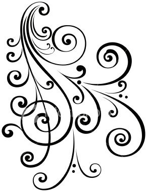A fancy vectorized ornate scroll design with ungrouped scrolls.Saved.