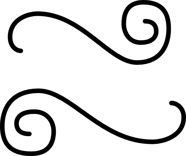 Fancy scroll clip art image #23660.