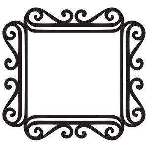 Silhouette Design Store: fancy square frame.