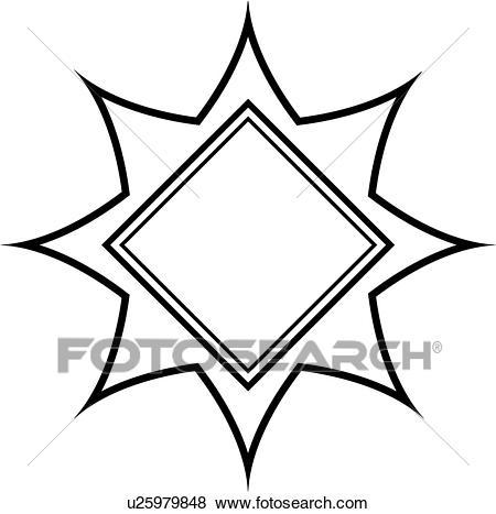 , blank, border, contemporary, fancy, frame, star, starburst, sun, Clip Art.