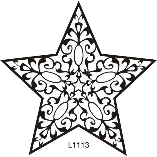 Amazon.com: Large Filigree Star Rubber Stamp: Arts, Crafts.