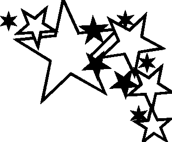 Star Outline Black And White Clipart#2235081.