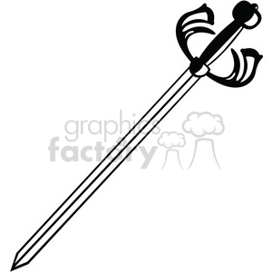 sword 001 clipart. Royalty.