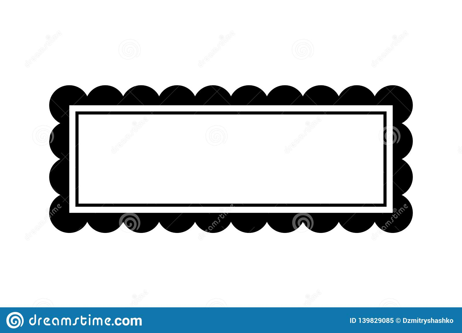 Fancy text box silhouette stock vector. Illustration of ornate.