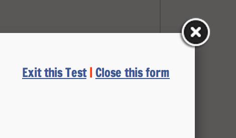Fancybox default close button.