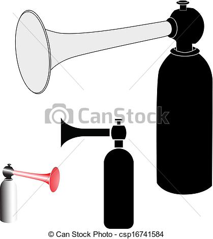 Vector of The air horn vector illustration csp16741584.
