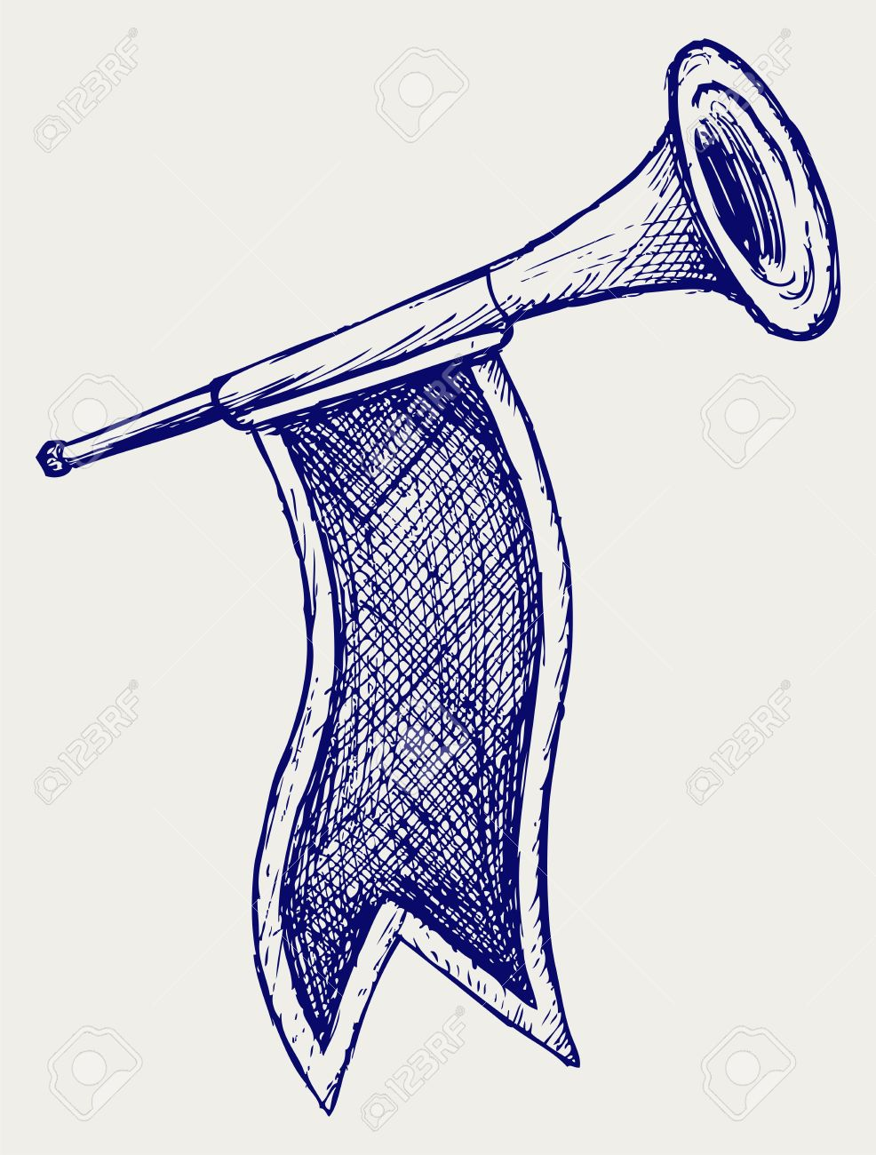 Fanfare Doodle Style Royalty Free Cliparts, Vectors, And Stock.