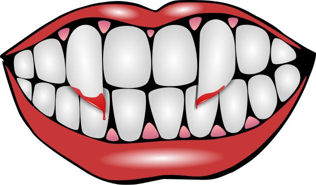 Halloween Vampire Teeth Clipart.