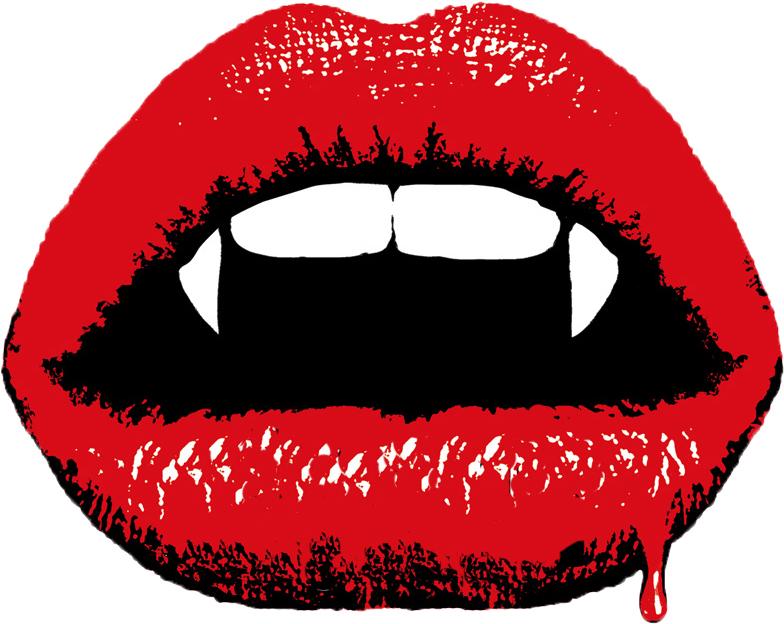 Vampire fang clipart.