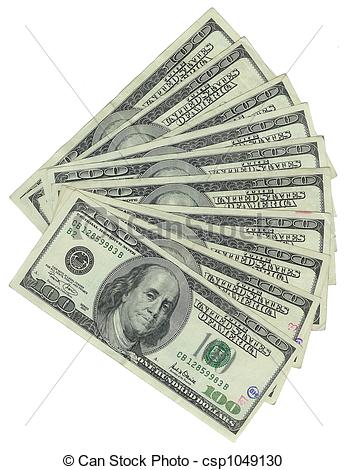 Stock Photography of One Thousand Dollars.