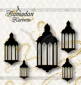 Arabic Lamps, Fanoos for Ramadan Kareem, Islamic.