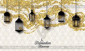 Arabic Lanterns, Fanoos for Ramadan Kareem,.