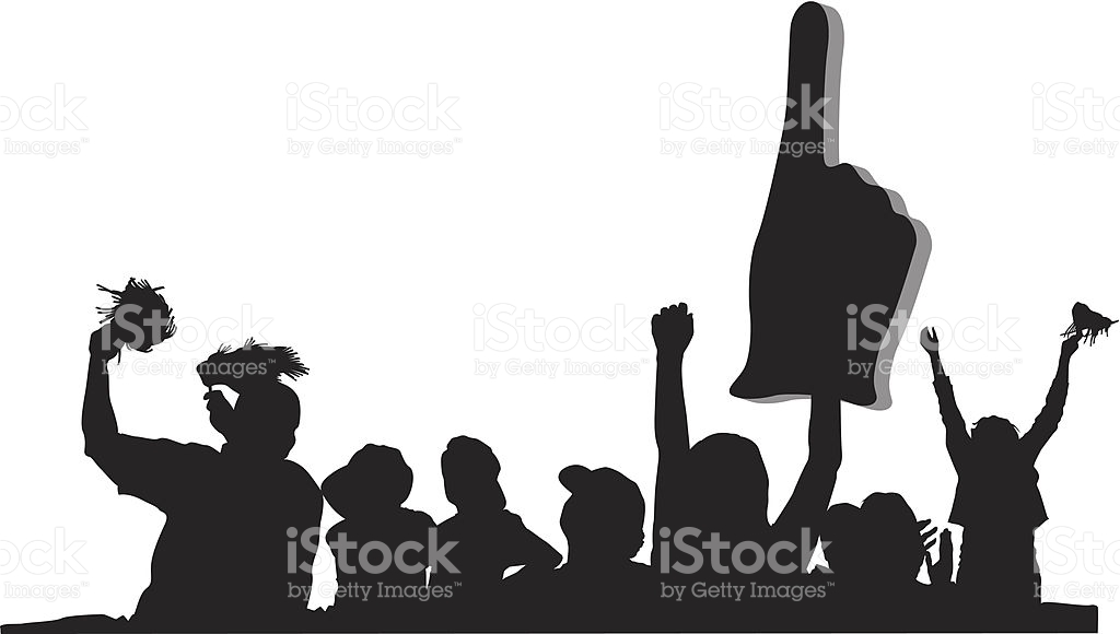 Cheering Sports Crowd Clipart.