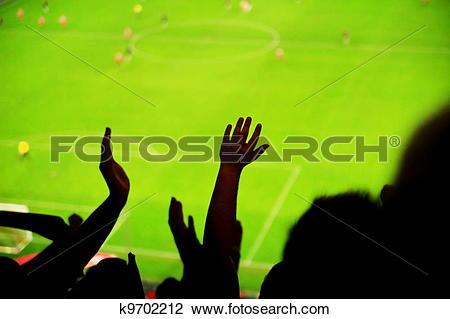 Stock Photo of Spectators fans football k9702212.