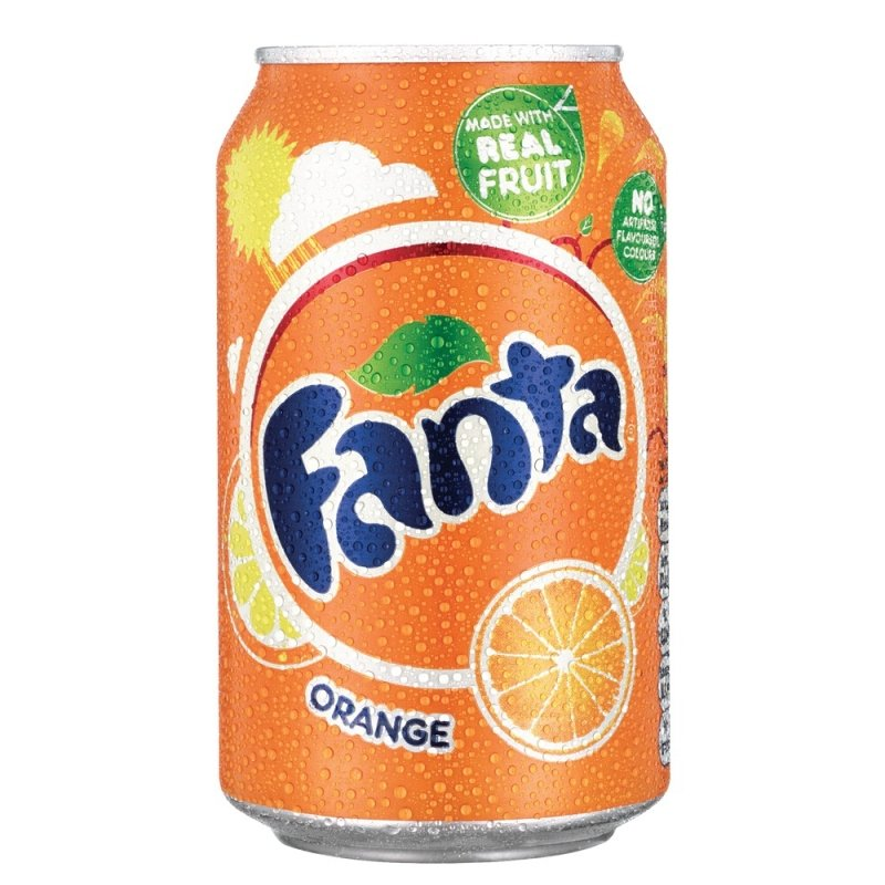 Fanta Orange 330ml Can.