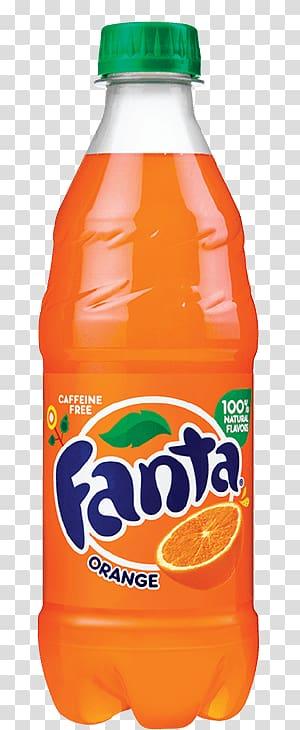 Fanta orange soda bottle illustration, Fanta Orange Bottle.