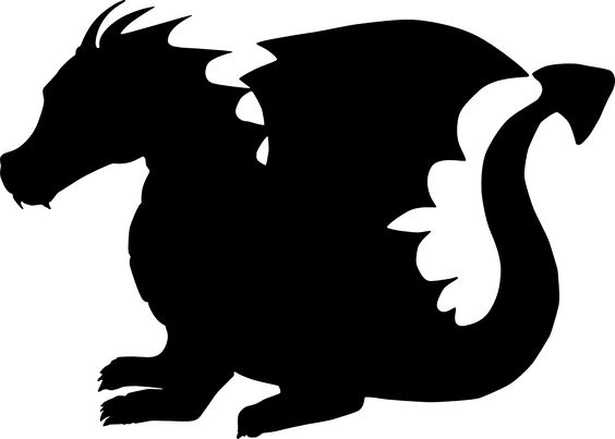 Animaux, Dragon and Silhouette on Pinterest.