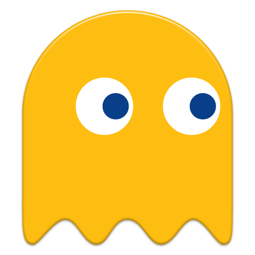 Pacman Yellow Ghost transparent PNG.