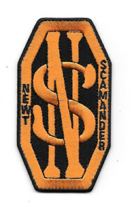 Details about Fantastic Beasts And Where To Find Them Newt Scamander Logo  Embroidered Patch.