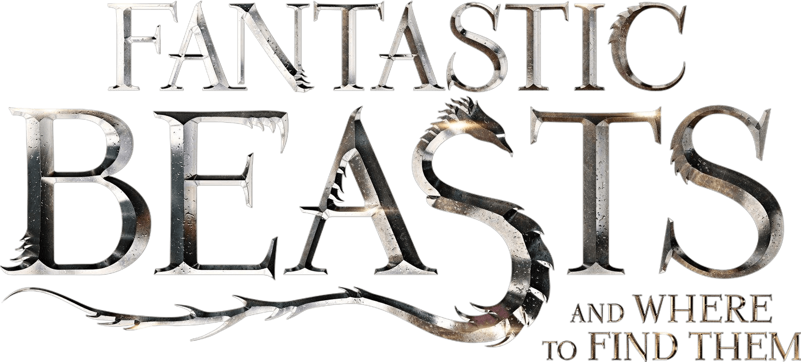 Fantastic Beasts and Where To Find Them Logo transparent PNG.