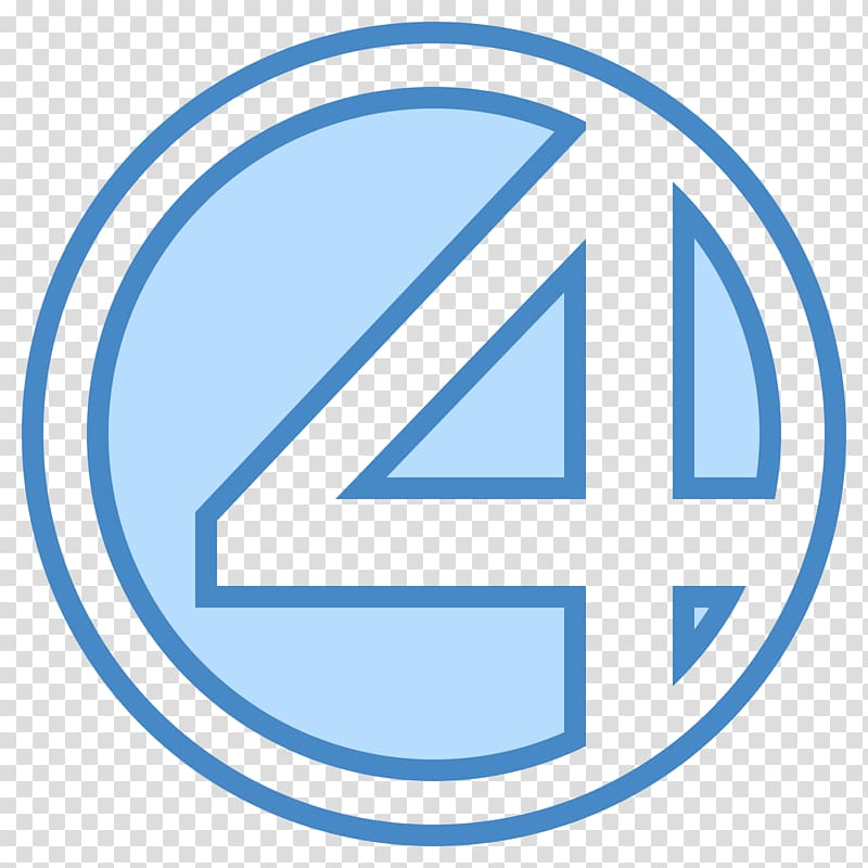 YouTube Logo Fantastic Four Symbol, fantastic transparent background.