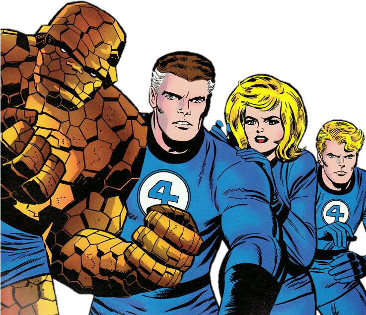 Fantastic four,Thing,Superhero,Fictional character,Hero,Cartoon.