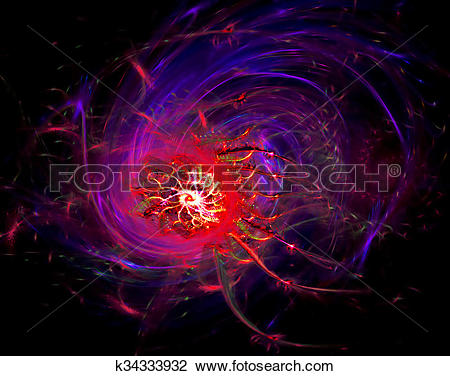 Clip Art of Fantastically translucent abstract space nebula with a.